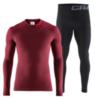 Craft Warm Intensity комплект термобелья мужской бордо-черный - 1