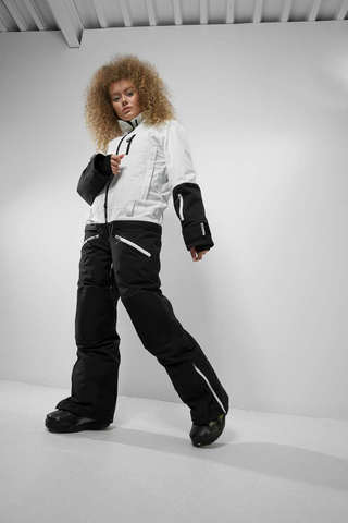 Cool Zone SMART комбинезон для сноуборда женский черный-белый