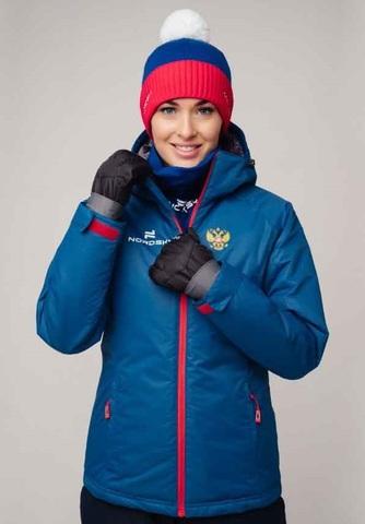 Nordski Patriot Premium утепленный лыжный костюм женский blue-black