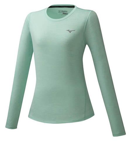 Mizuno Impulse Core Ls Tee футболка с длинным рукавом женская бирюзовая
