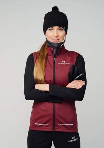 Nordski Pro лыжный жилет женский wine