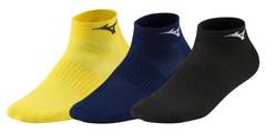 Mizuno Training Mid 3P комплект носков черные-синие-желтые