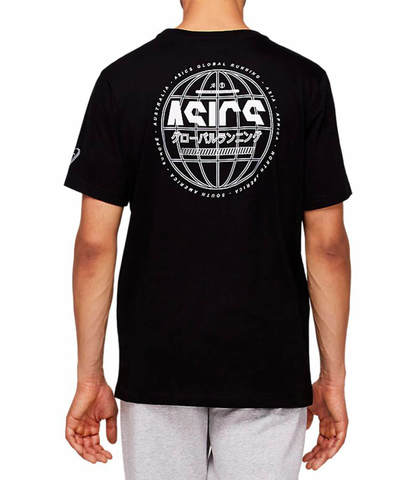 Asics Run Global Tee футболка для бега мужская черная
