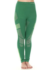 BRUBECK DRY термобелье леггинсы женские зелено-лимонный