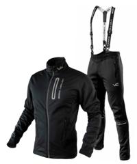 Victory Code Go Fast разминочный лыжный костюм с лямками black