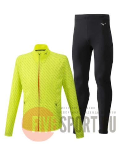 Mizuno Reflect Wind Warmalite костюм для бега мужской yellow-black