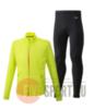 Mizuno Reflect Wind Warmalite костюм для бега мужской yellow-black - 1