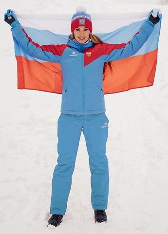 Nordski National 2.0 утепленный лыжный костюм женский blue