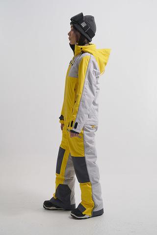 Cool Zone OVER комбинезон женский сноубордический желтый-серый