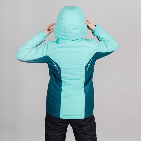 Теплая лыжная куртка женская Nordski Base sky-deep teal