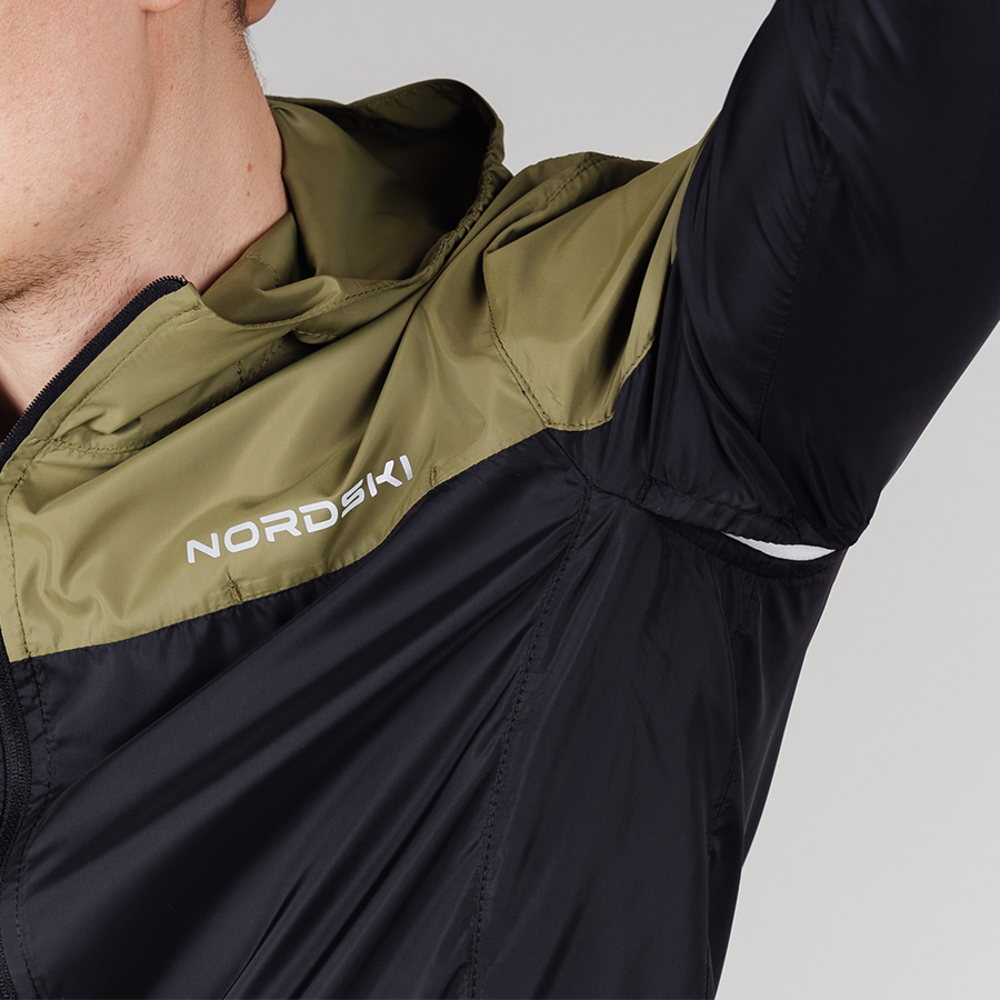 Nordski Rain ветровка беговая мужская olive-black - 6