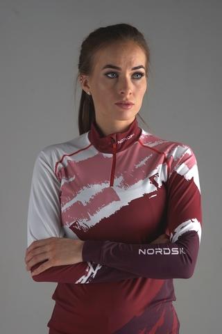 Nordski Jr Premium детский гоночный комбинезон бордо-rose