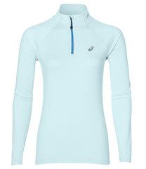 Рубашка для бега женская Asics LS 1/2 Zip Jersey голубая