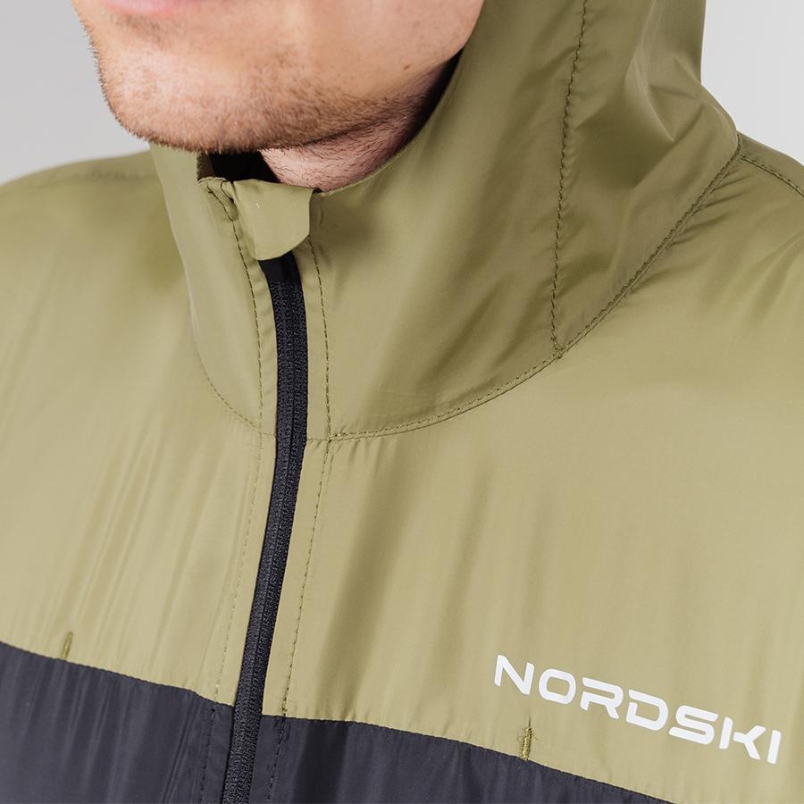 Nordski Rain ветровка беговая мужская olive-black - 5