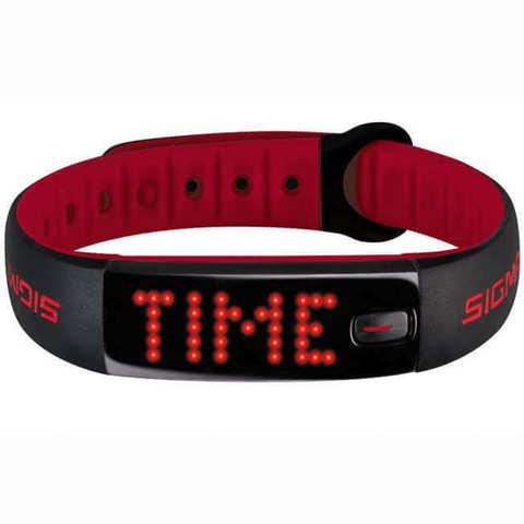 Sigma Sport Activo фитнес-трекер black-red