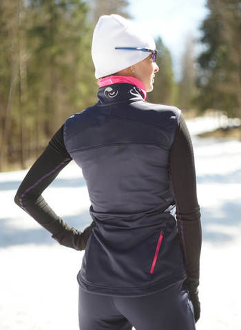 Nordski Motion женский лыжный жилет blueberry/pink
