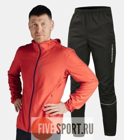 Nordski Run костюм для бега мужской Red-Black