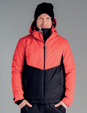 Nordski Montana утепленная куртка мужская красная-черная