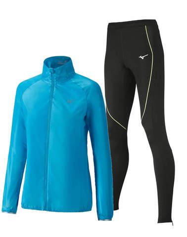 Mizuno Impulse костюм для бега женский blue