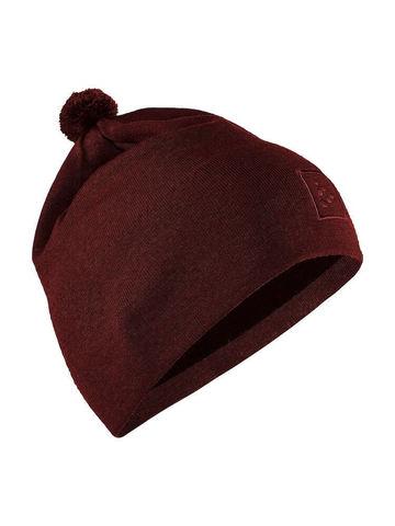 Craft Practice шапка с помпоном бордо