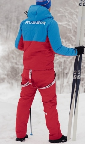Nordski Montana Premium RUS утепленный лыжный костюм женский Red