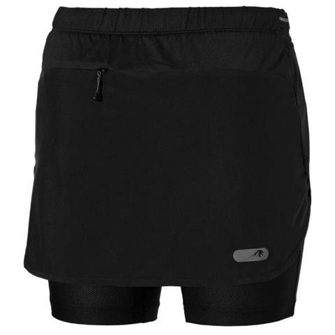 Беговая юбка-шорты женская Asics FujiTrail Skort черная