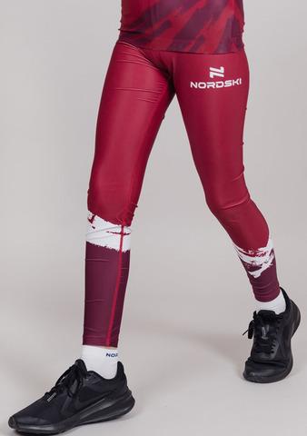 Nordski Jr Premium детский гоночный комбинезон бордо-white