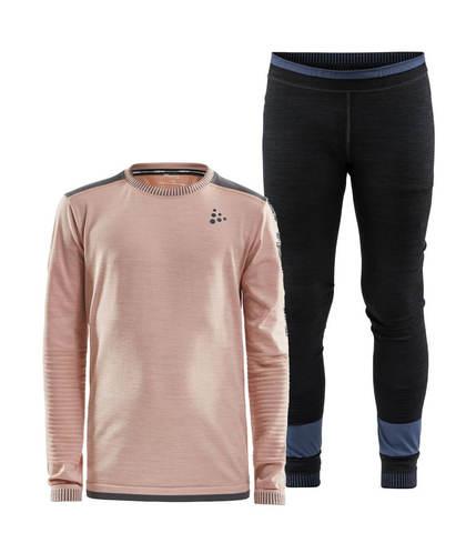 Craft Active Fuseknit Comfort комплект термобелья детский черный-розовый