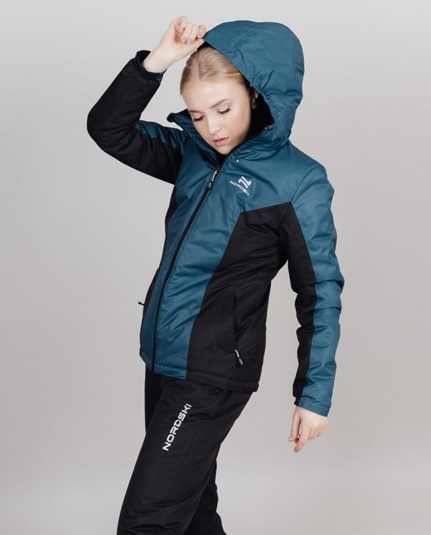 Теплая лыжная куртка женская Nordski Base deep teal