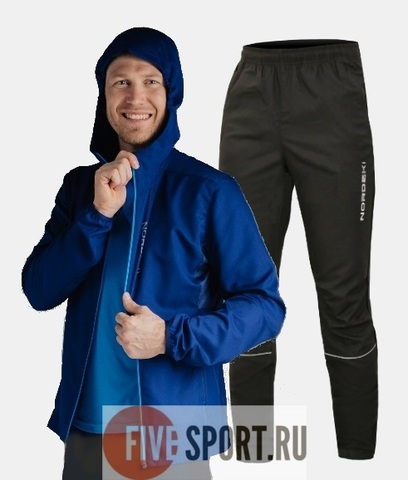 Nordski Run костюм для бега мужской Navy-Black