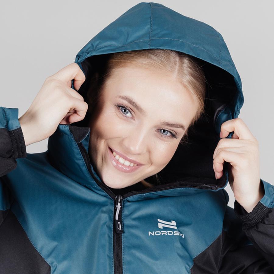 Теплая лыжная куртка женская Nordski Base deep teal - 4