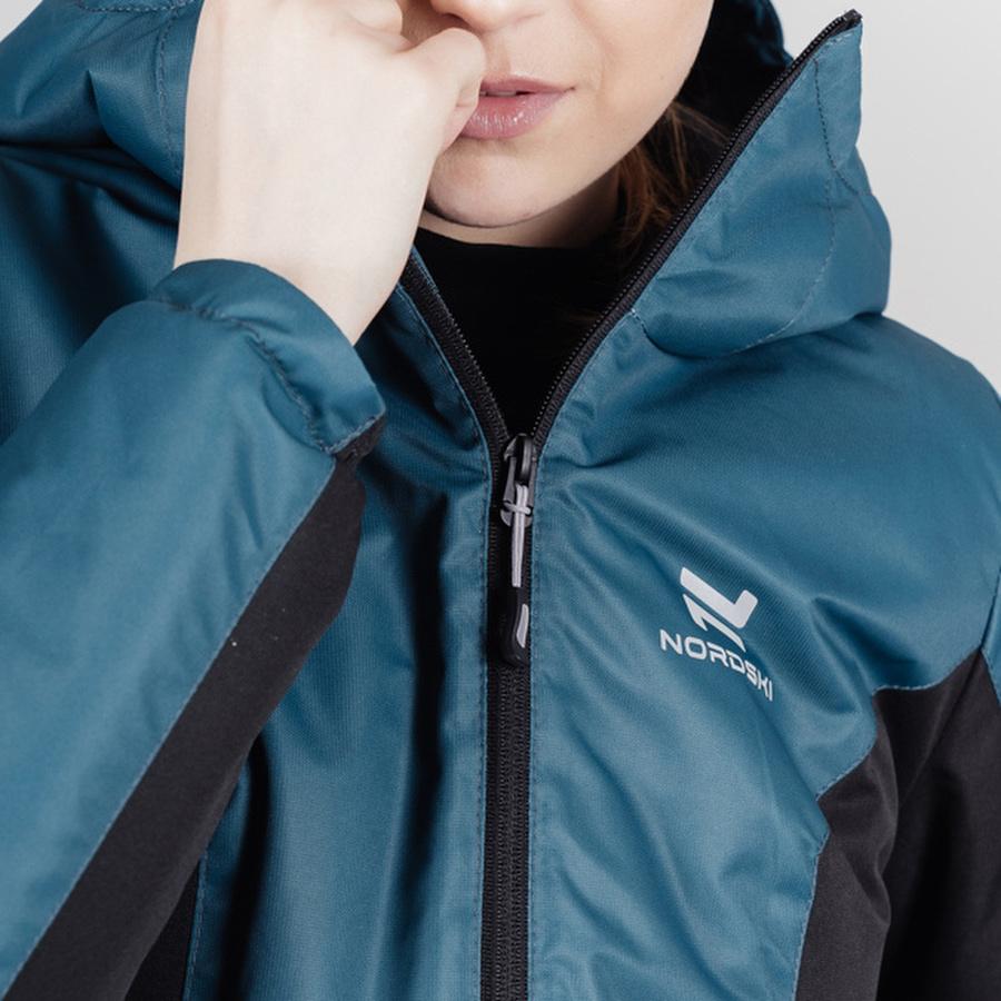 Теплая лыжная куртка женская Nordski Base deep teal - 5