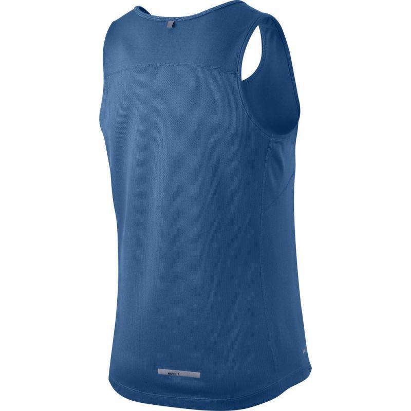 Майка л/а Nike Miler Singlet синяя - 2