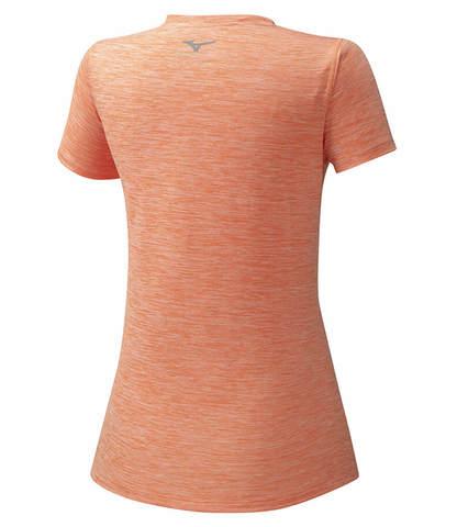 Mizuno Impulse Core Tee беговая футболка женская коралловая