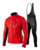 Victory Code Dynamic Warm разминочный лыжный костюм со спинкой red - 1