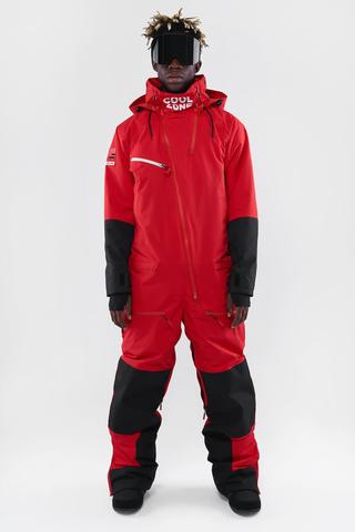 Cool Zone CUBE сноубордический комбинезон мужской красный