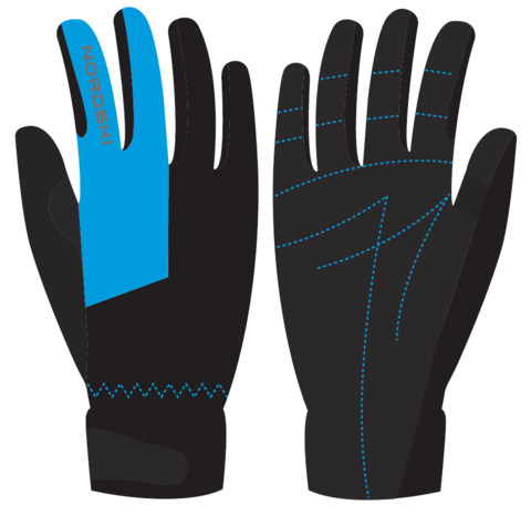 Nordski Jr Racing WS перчатки детские black-blue