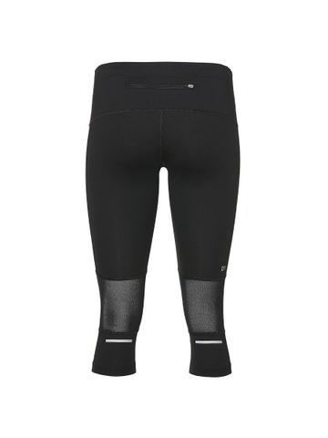 Asics Stripe Knee Tight тайтсы для бега женские черные-розовые