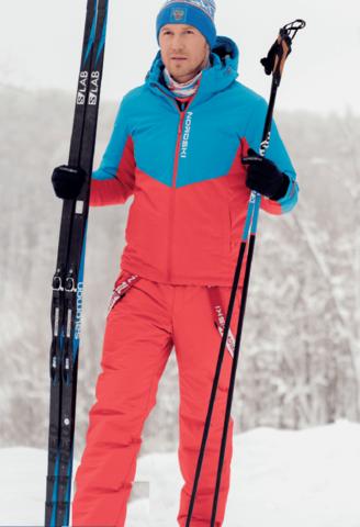 Nordski Jr Montana RUS теплый лыжный костюм детский blue-red