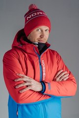 Nordski Montana RUS утепленная куртка мужская красная синяя