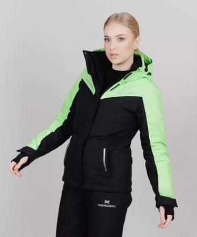 Горнолыжная куртка женская Nordski Extreme black-lime