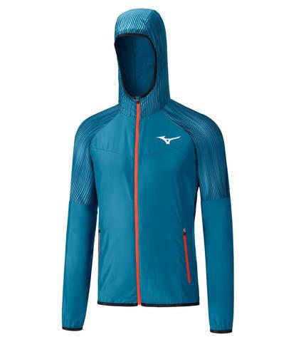 Mizuno Printed Hoodie Static Bt костюм для бега мужской синий