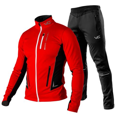 Victory Code Speed Up разминочный лыжный костюм красный