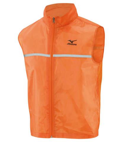 Светоотражающий жилет мужской Mizuno Running Vest оранжевый