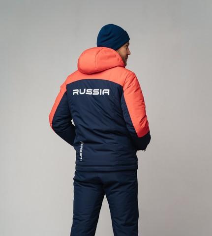 Nordski Mount лыжная утепленная куртка мужская blue-red