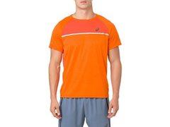 Asics SS Top футболка для бега мужская оранжевая