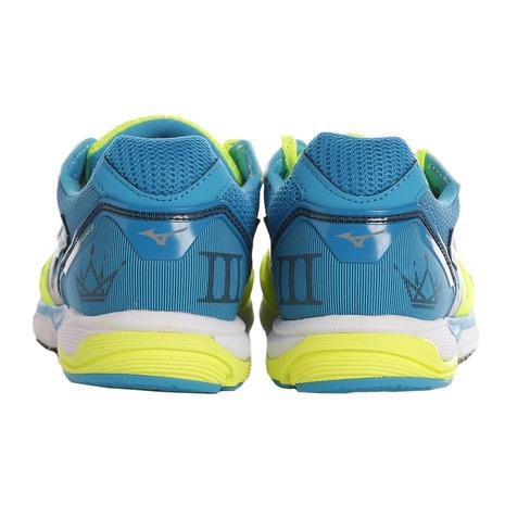Mizuno Wave Emperor 3 кроссовки для бега мужские желтые-голубые - 5