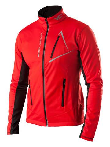 Victory Code Dynamic Warm разминочный лыжный костюм со спинкой red