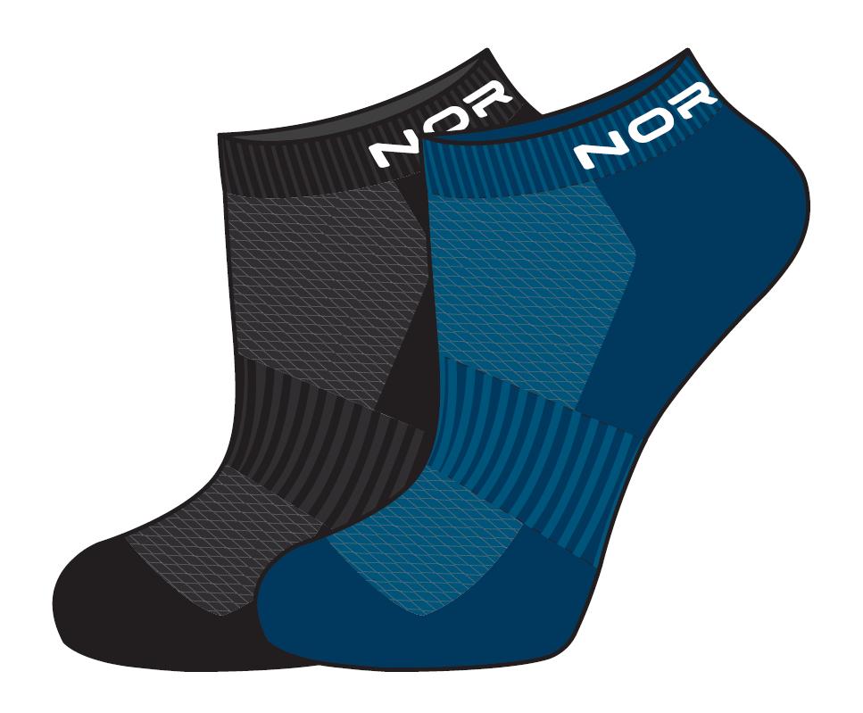 Nordski Run комплект спортивные носки black-seaport - 3