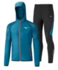 Mizuno Printed Hoodie Static Bt костюм для бега мужской синий - 3